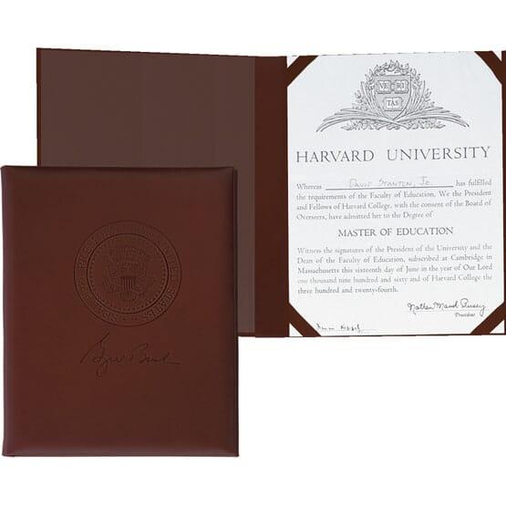 Cowhide Certificate Holder