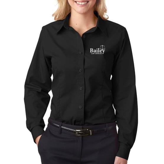 Ultraclub® Ladies' Easy-Care Broadcloth