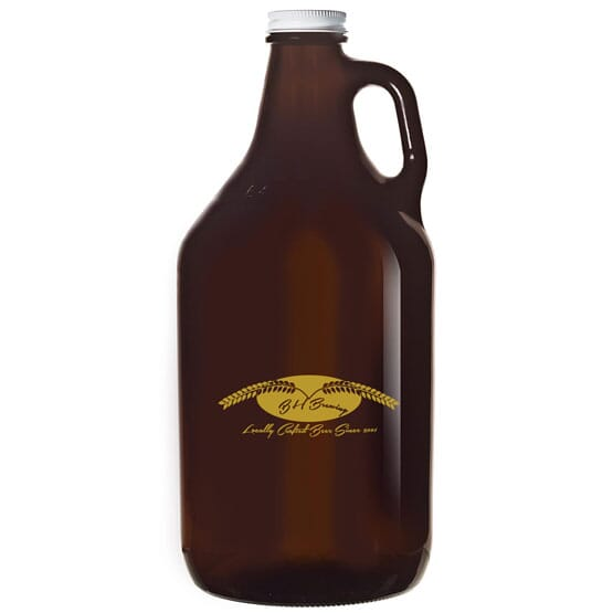 Amber Glass Growler