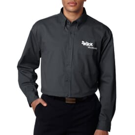 Ultraclub® Men's Whisper Twill Shirt