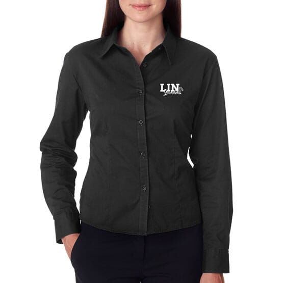 Ultraclub® Ladies' Whisper Twill Shirt