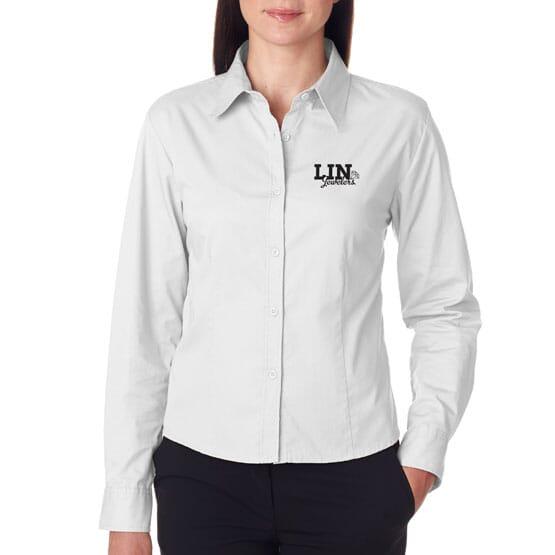 Ultraclub® Ladies' Whisper Twill Shirt