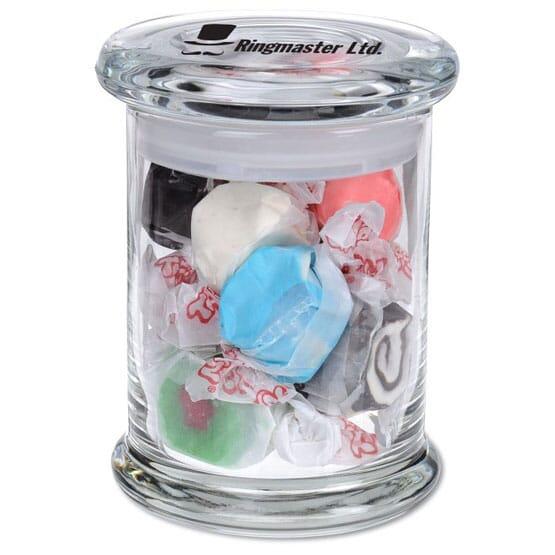 Candy Jar With Salt Water Taffy