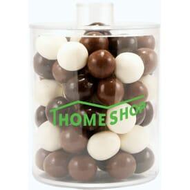 Acrylic Cylinder Gift Jar With Malt Balls