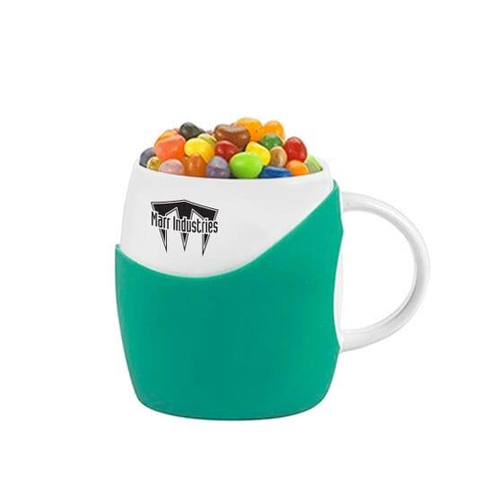 14 oz Jelly Filled Cupped Ceramics Mug
