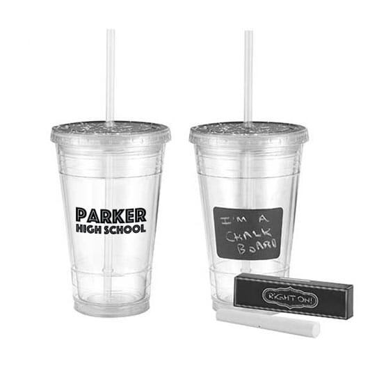 16 oz Chalk It Up Tumbler