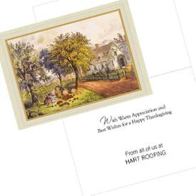 Currier & Ives American Homestead Greeting Card