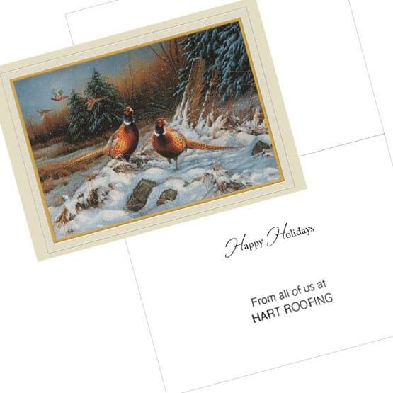 Holiday Pheasant Greeting Card