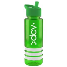 24 oz Color Band Bottle - Flip Straw Lid