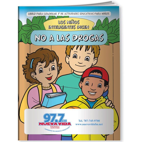 Say No To Drugs Coloring Book - Spanish