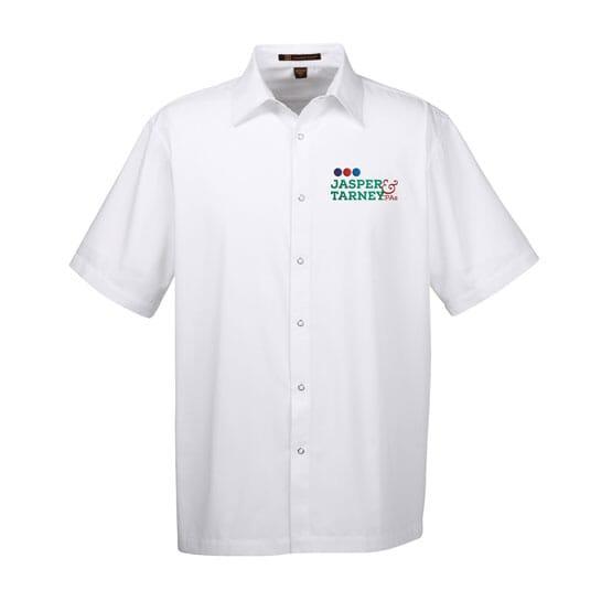 Harriton® Men's Advantage Snap Closure Short-Sleeve Shirt