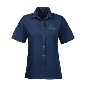 Harriton® Ladies' Advantage Snap Closure Short-Sleeve Shirt