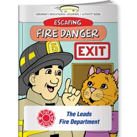 Escaping Fire Danger Coloring Book