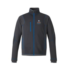 North End® Sport Red Men's Pulse Textured Bonded Fleece Jacket With Print