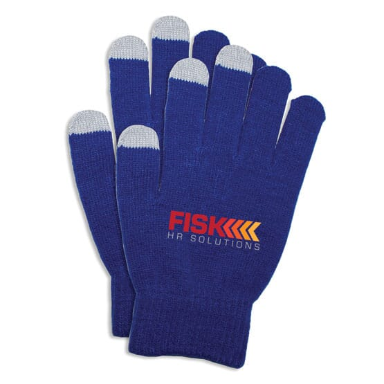 Touch-screen compatible knit gloves