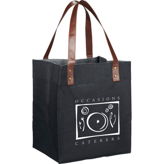 reusable grocery tote made of eco friendly jute