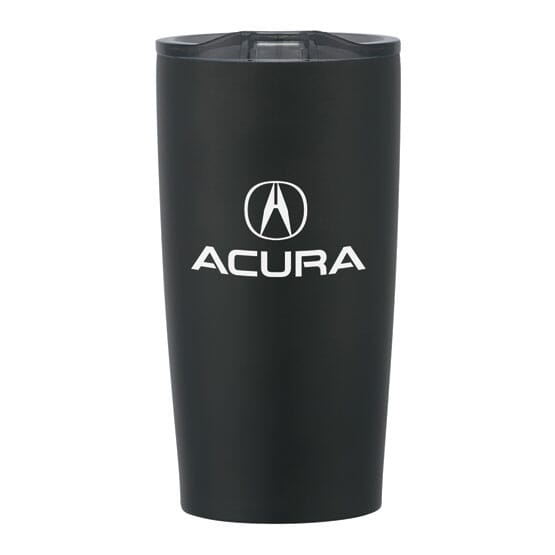 Insulated travel mug with logo