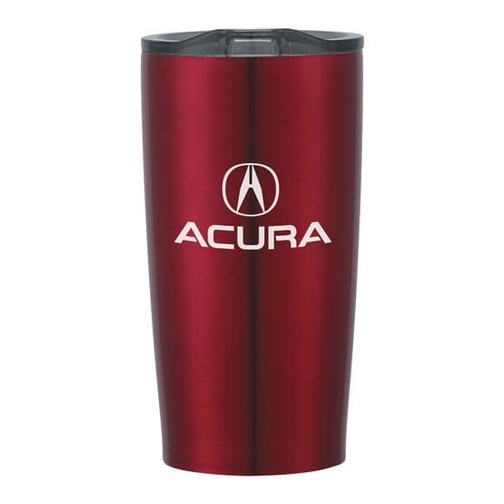 Stainless steel travel mug with logo