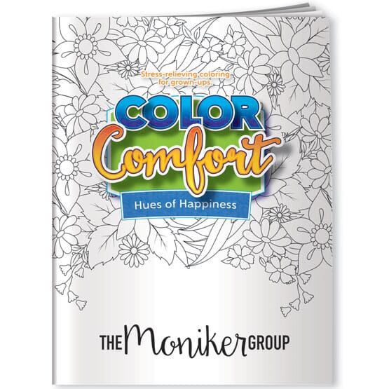 Hues Of Happiness Adult Coloring Book- Flowers - Promotional Giveaway  Crestline