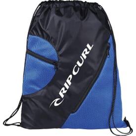 Zippered Mesh Drawstring Bag