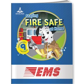 Staying Fire Safe At Home Activity Book&Temp Tats
