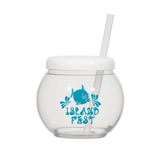 46 oz Fish Bowl Cup with Straw