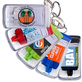 Earbuds Wrap Up Case And Key Ring