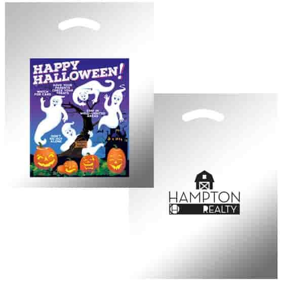 """12"""" x 15"""" Ghost & Pumpkin Halloween Bag"""