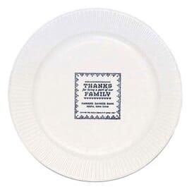 "White Round Paper Plate - 7"""