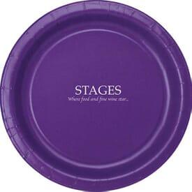 "Round Color Paper Plates - 9"""