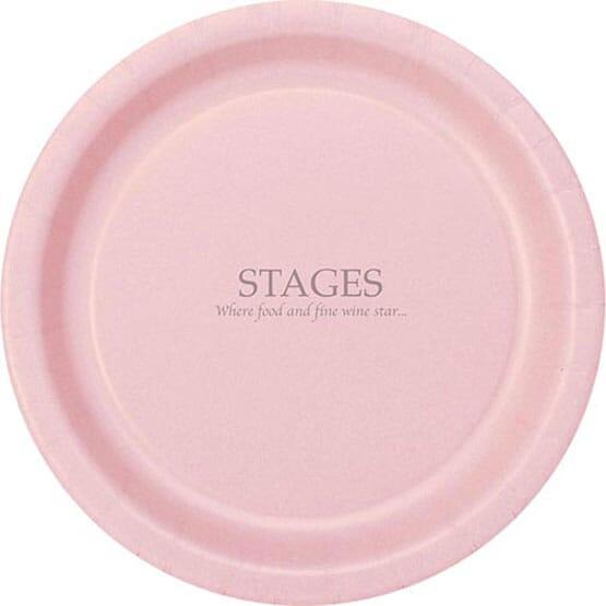 Round Color Paper Plates - 9