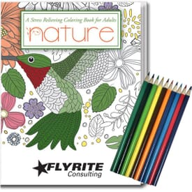 Adult Coloring Book Kit - Nature
