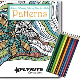 Adult Coloring Book Kit - Relaxing Patterns
