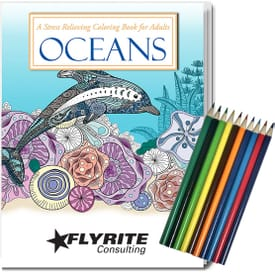 Adult Coloring Book Kit - Oceans