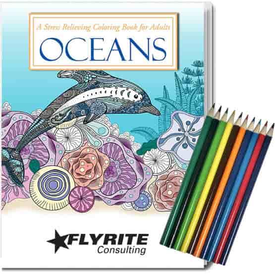 Adult Coloring Book Kit - Oceans