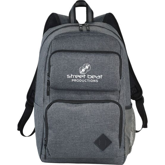 Heathered Backpack with Computer Sleeve
