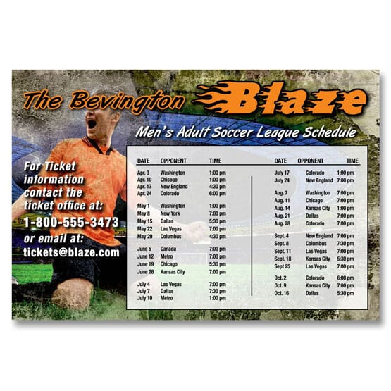 Fully customized schedule magnet
