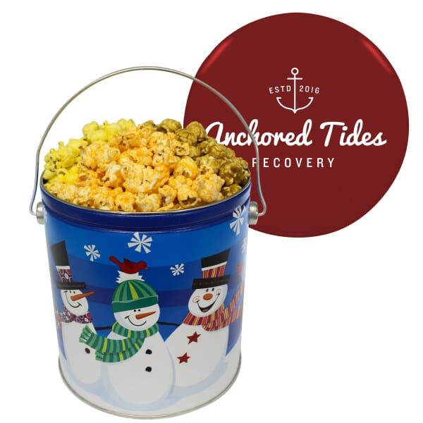 One Gallon Holiday Popcorn Tin