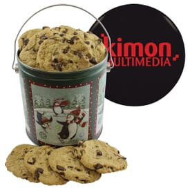 One Gallon Holiday Cookie Tin