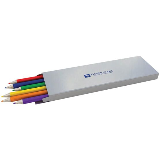 6pc Colored Pencil Set (Imprinted)