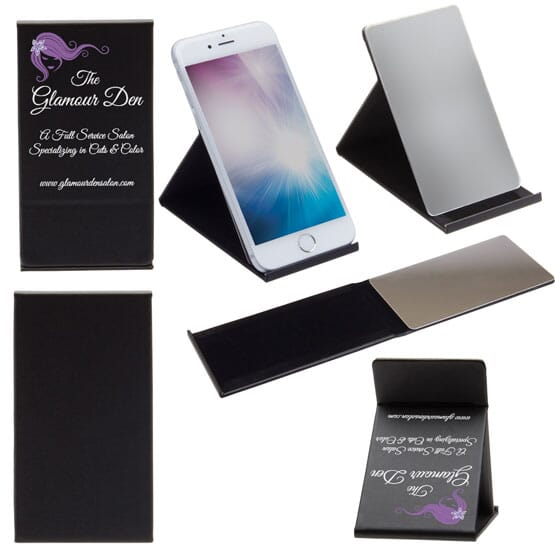 Deluxe Phone Stand W/Mirror