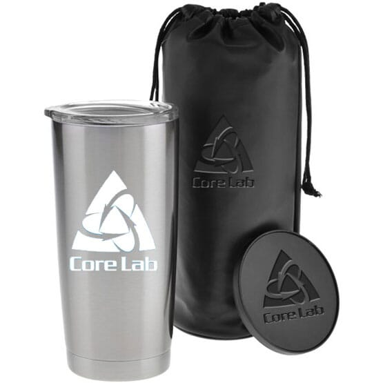 Insulated travel mug and coaster set