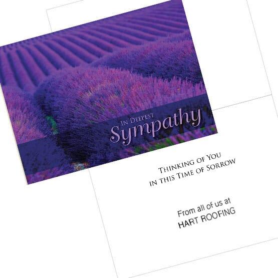 Lavender Field Sympathy Card