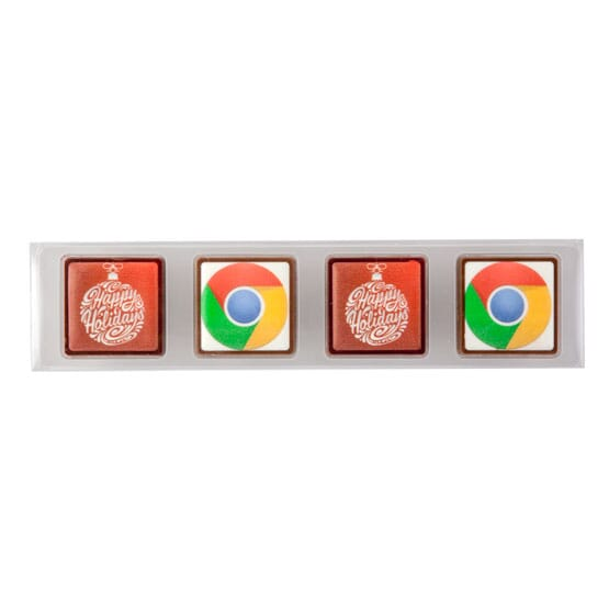 Full Color Chocolates - 4 Piece Box