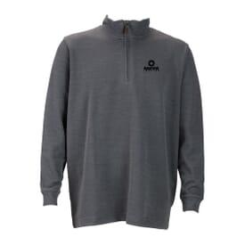 Quarter Zip Ribbed Pullover- Men's