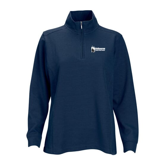 Quarter Zip Ribbed Pullover- Women's
