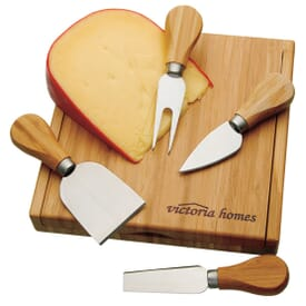 Bamboo Cheese Board & Utensils