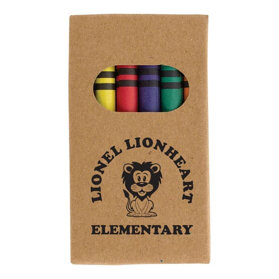crayon pack with school logo
