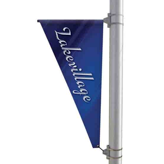 """24"""" X 48"""" Double-Sided Triangular Pole Banner"""