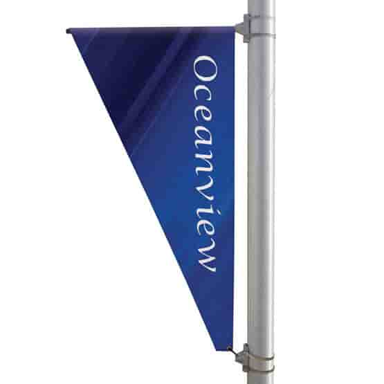 """30"""" X 60"""" Double-Sided Triangular Pole Banner"""
